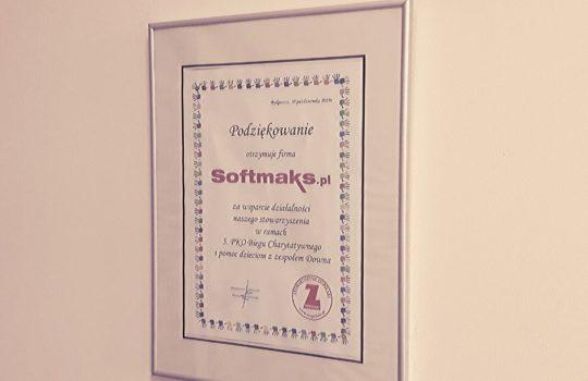 Podziękowanie dla Softmaks